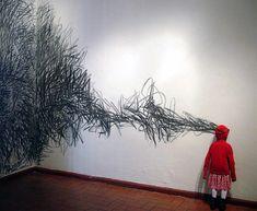 Wall art installation by Jorge Pineda