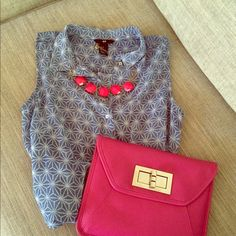 Spotted while shopping on Poshmark: Sleeveless Sheer Button Down Top! #poshmark #fashion #shopping #style #H
