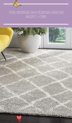 Product Details Construction: Power Loomed, Shag Fiber Content: Synthetic Style: Shag & Flokati #cream carpet stairs Safavieh Berber Shag BER162B Light Grey / Cream<br>