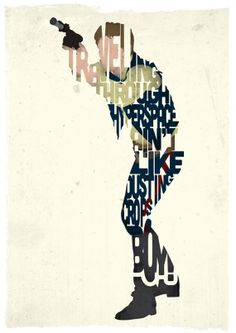 Han Solo typography print based on a quote from the movie A New Hope