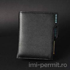Portofel din piele barbatesc marca Bogesi Zip Around Wallet, Model, Scale Model, Models, Template, Pattern, Mockup, Modeling
