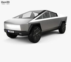 model of Tesla Cybertruck 2019 Tesla Pickup, City Skylines Game, Hybrids And Electric Cars, Eco Friendly Cars, Car 3d Model, Stl File Format, Tesla Motors, Mustang Cars, Car Ford
