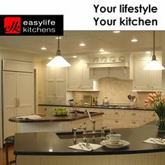The elegant lighting in a kitchen can be used to enhance the overall atmosphere and produce a sense of sophistication and style. Let Easylife Kitchens George assist you in the design and installation of your next kitchen by calling 044- 871 5285 for a consultation. #elegantkitchens #lifestyle #kitchendesign