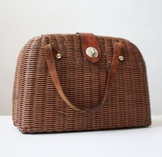 large vintage basket purse