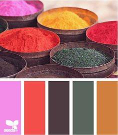 Los colores Vibrantes representan a los colores más puros. Son intensos y dramáticos. Tienen muy poca cantidad de blanco y de negro. Ideales como protagonistas. Dinámicos, fuertes y audaces.  @ElementaryFur