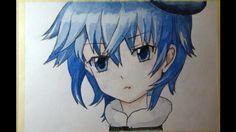 Рисую аниме акварелью