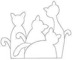 61 Ideas Patchwork Animals Gatos For 2019 Applique Templates, Applique Patterns, Applique Quilts, Applique Designs, Embroidery Applique, Quilt Patterns, Embroidery Designs, Cat Template, Owl Templates