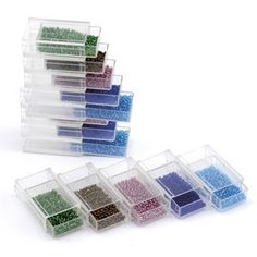 Keep tiny findings or beads organized with these handy Stack Drawers - slide them together in a stack or in a row. 10 drawers in pack. Drawers attach at the sides and top to bottom. Beads not included. Bead Organization, Storage Design, Beading Supplies, Tool Kit, Drawers, Swarovski, Container, Beads, Needlework