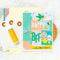 @marinette_scrap here again to share with you a friendship card created with #march2016 kits :: @pinkfreshstudio @official_basicgrey #hipkits #hipkitclub #papercrafting #scrapbookcards #basicgrey #march2016