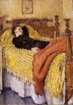 """Woman Resting,"" Lilian Wescott Hale, ca. 1920s, oil on canvas, 20 x 14"", Florence Griswold Museum."