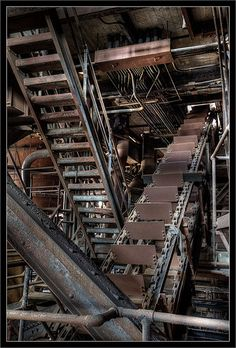 Conveyor Belt and Steps at Coal Breaker Plant | Flickr - Photo Sharing!