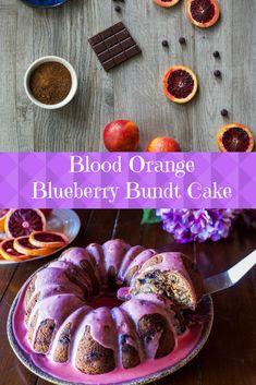 Blood Orange Blueberry Bundt Cake Recipe ~ absolutely delicious!