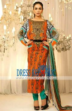 Ali Xeeshan Eid Embroidered Lawn Collection 2013-14 For Eid ul Adha Lockwood Huddersfield UK   by www.dressrepublic.com