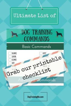 Dog commands are an essential part of your dog's training. They provide structure and consistency in training. We have a comprehensive list of dog training commands and how to teach your dog each one. Plus we have some fun tricks to teach your dog once they have mastered the basics. Click through for a printable dog commands checklist.