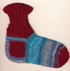 Sukka kantapään kautta eli neulo kantapää ensin   Punomo Socks, Fashion, Moda, Fashion Styles, Sock, Stockings, Fashion Illustrations, Ankle Socks, Hosiery