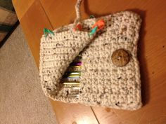 Crochet hook holder..