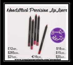 Moodstruck Precision Pencil Lip Liner Lápices Precision de larga duración, a prueba de manchas y resistentes al agua.
