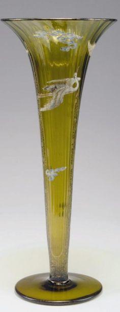 """Emile Gallé , Nancy um 1890 Vase """"Grues du Japon"""""""