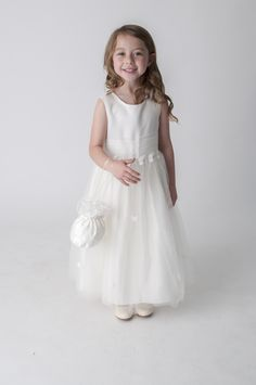 Ivory Butterfly Bridesmaid Flower Girl Party Dress. available in other colours, please see our website. UK supplier ships worldwide.