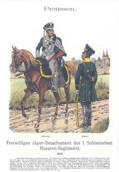 Vol 17 - Pl 36 - Preußen: Freiwilliges Jäger-Detachement des 1. Schlesischen Husaren-Regiments 1813.