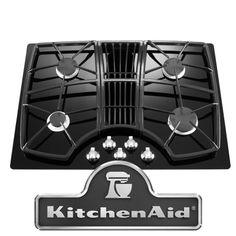 "KitchenAid Architect Series II KGCD807XBL 30"" Wide, 4-Burner Downdraft Gas Cooktop $1,160"