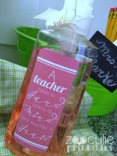 Back to School Gifts for Teacher with printables