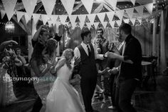 bride and groom dancing rustic romantic chic wedding  wedding reception flag bunting  http://www.trueimageryblog.blogspot.com/