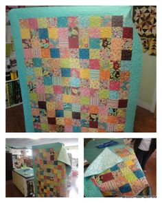 Jenny finished this beauty to show off our easy-breezy charm pack quilt pattern.