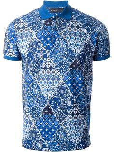 Etro Paisley Print Polo Shirt - Gore - Farfetch.com