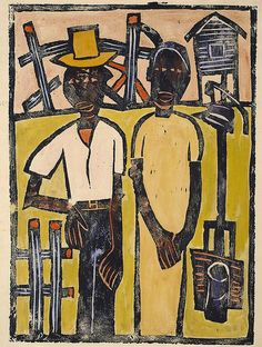 Farm Couple at Well
