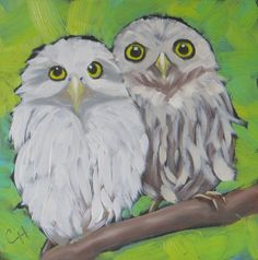 Baby Owls no.3, Daily Paintworks - Claire Henning