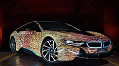This BMW i8 is wearing a futuristic Italian paint job from 1909