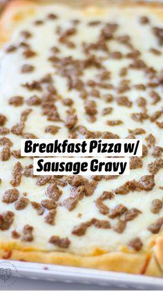 Breakfast Pizza, Savory Breakfast, Breakfast Items, Best Breakfast, Brunch Recipes, Sweet Recipes, Breakfast Recipes, Sausage Gravy, Cereal Recipes