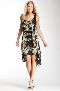 Flower Print Hi-Lo Dress