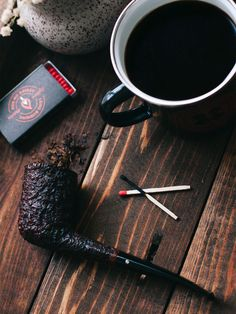 """smokingpipes-com: """"As black as midnight on a moonless night. """" …and the coffee too. Wooden Smoking Pipes, Tobacco Pipe Smoking, Cigar Smoking, Tobacco Pipes, Smoking Wood, Pipes And Cigars, Cigars And Whiskey, Whisky, Cigar Bar"""