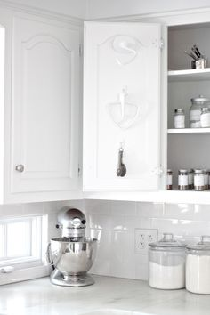 Kitchen Organization Tips - a baking and spice pantry that maximizes storage