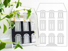 French mansion mirror. Laser cut wall art. Unique by LaNiqueHOME, €35.00