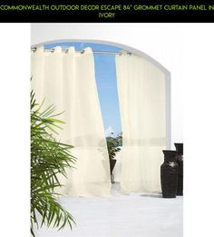 """Commonwealth Outdoor Decor Escape 84"""" Grommet Curtain Panel in Ivory #plans #tech #gadgets #shopping #escape #parts #kit #products #outdoor #racing #technology #drone #fpv #decor #camera"""