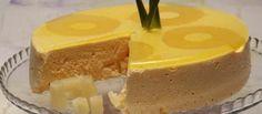 Pudim fresco de ananás