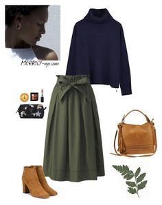 """fashion"" by yumiko-merrily on Polyvore featuring ファッション, Ille De Cocos, Uniqlo, Urban Expressions, Aquazzura, Burt's Bees, MAC Cosmetics と Marc Jacobs"