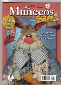 Como Hacer Muñecos Country n06 - REVISTAS DIVERSAS - Picasa Web Albümleri Sewing Magazines, Cross Stitch Magazines, Magazine Crafts, Primitive Crafts, Felt Toys, Soft Dolls, Free Books, Sewing Hacks, Teddy Bear