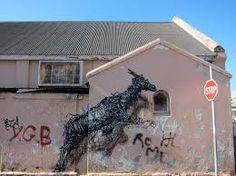 Street art : Fresco entitled 'The Williams Brothers' by the artist DALeast in South Africa in Cape Town. World Street, Le Cap, Murals Street Art, Political Art, Chalk Art, Land Art, Street Artists, Banksy, Woodstock
