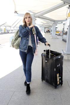 8b66d398e Double Denim Looks, Suki Waterhouse, Heathrow Airport, Ashley Olsen,  Vanessa Hudgens,