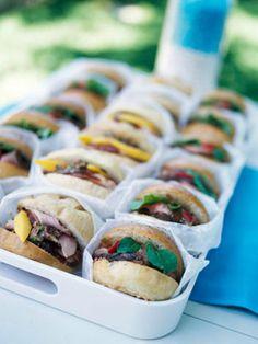 Ham and Mango Sandwiches.. I love  mini food!