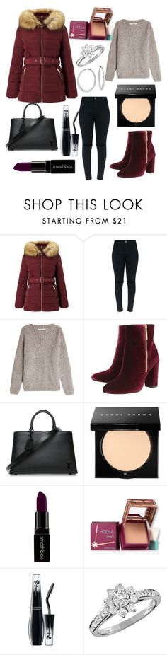 """puffer coat look"" by miaa02 ❤ liked on Polyvore featuring Miss Selfridge, Mes Demoiselles..., Ravel, Louis Vuitton, Bobbi Brown Cosmetics, Smashbox, Hoola, Lancôme, Tiffany & Co. and Blue Nile"