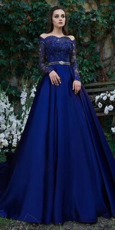 155.39  Beautiful Tulle   Satin Off-the-shoulder Neckline Floor-length  A-line Evening Dresses With Belt   Beaded Lace Appliques. Fancy GownsFormal  ... a677f3ee3239