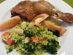 Deliciosa paparoca: Cuscuz de legumes com frango assado