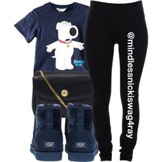 A fashion look from November 2013 featuring H&M t-shirts, Helmut Lang leggings and UGG Australia boots. Browse and shop related looks.