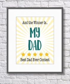 Fathers Day Print, Love my Daddy, Love my Dad, Printable Art, Fathers Day Printable, Instant Download, Digital Print, Love my Dad Art by SBsPrintables on Etsy