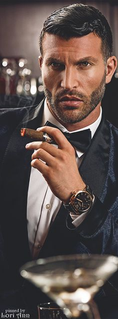 by photographer Oliver Doran at Shangri-La Hotel Dubai Black And White Tuxedo, Cigar Men, Shangri La Hotel, Dark Men, Its A Mans World, Guys Be Like, Bad Habits, Well Dressed Men, Most Beautiful Man